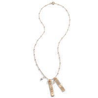 Classique Personalized Gold Tag Necklace