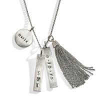 Diamond Tassel Personalized Necklace