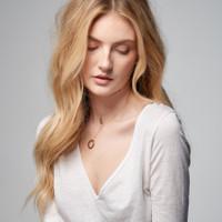 Celebrian Stacking Ring Necklace - Short Version