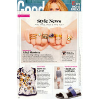 14K Gold Script Initial Ring as seen in Good Housekeeping.