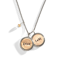 Byzantine Hand Stamped Necklace
