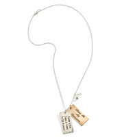 Lyrical Personalized Message Necklace