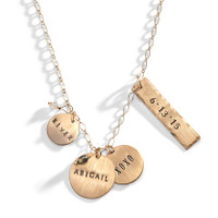 Goldilocks Gold Hand Stamped Necklace