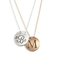 Sophi Personalized Engraved Monogram Necklace