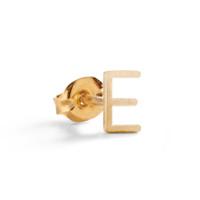 Classic 14K Gold Block Initial Earring.