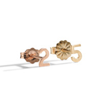 Classic 14K Gold Block Number Earring.