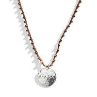 Breck Beaded Macrame Personalized Name Necklace with Sterling Silver Charm