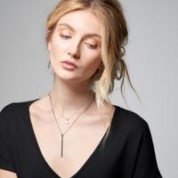 Rosebud Tiny Initial Necklace