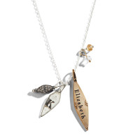 Three of Cups Diamond Shaped Charm Necklace