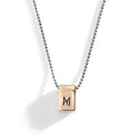 Uptown Lexington Modern Initial Bar Necklace