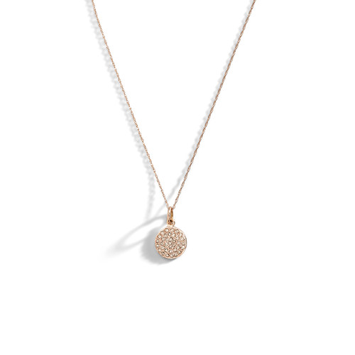 4K Rose Gold Diamond Circle Necklace