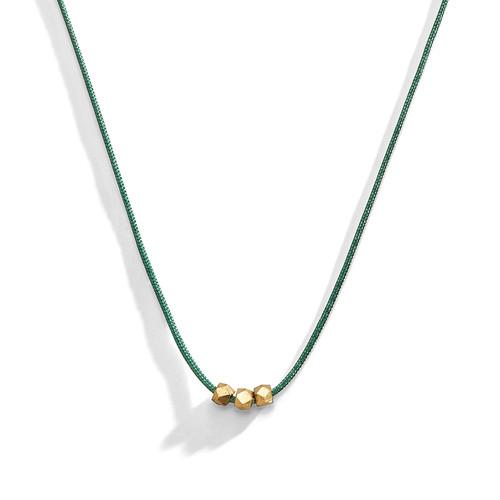 String Chiseled Minimalist Layering Necklace