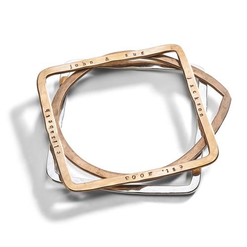 Geometric Bangle Bracelet