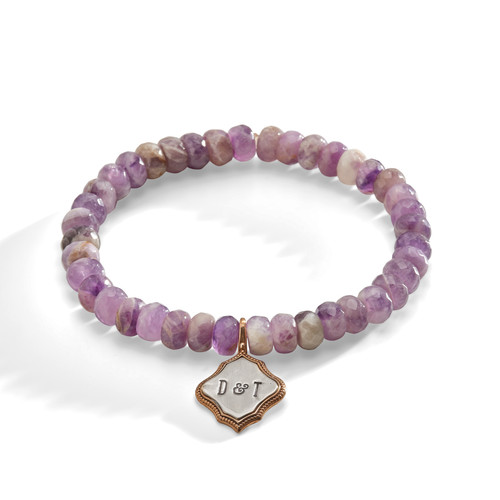 Aster Purple Amethyst Personalized Bracelet