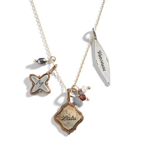 Fragmented Memento Personalized Charm Necklace