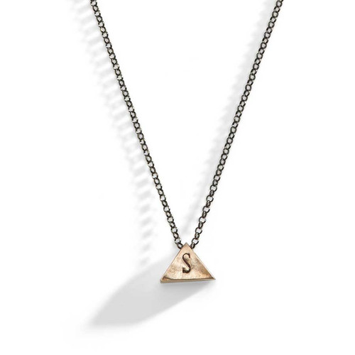 Bowie Modern Triangle Initial Necklace