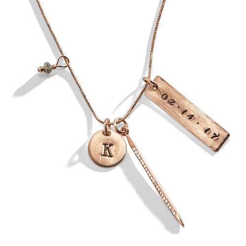 Darlington Rose Gold Diamond Personalized Necklace