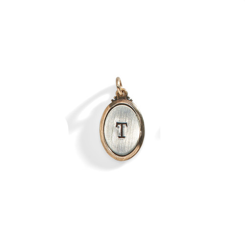 Evangeline Rimmed Oval Personalized Charm - A La Carte Charm