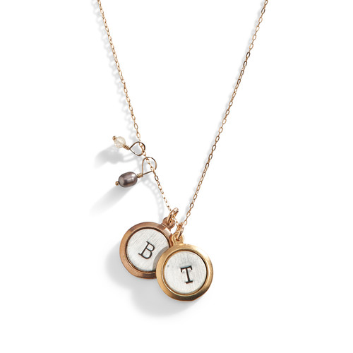 Pretty Little Initial Hand Stamped Necklace