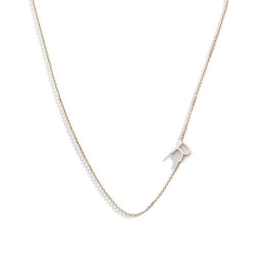 Delicate Off-Center Initial Necklace