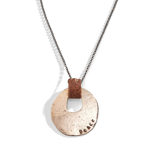 Leather Moondance Personalized Necklace