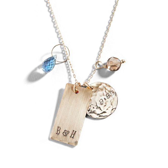 West End Personalized Gold Necklace