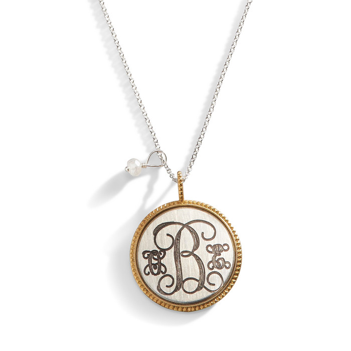 LuLu Studded Edge Monogram Medallion