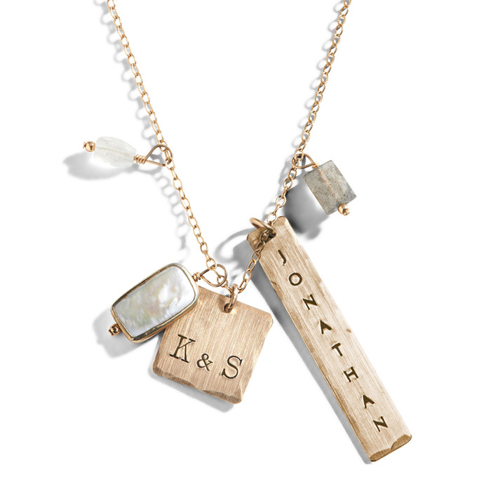 Moonlit Glimmer Personalized Necklace