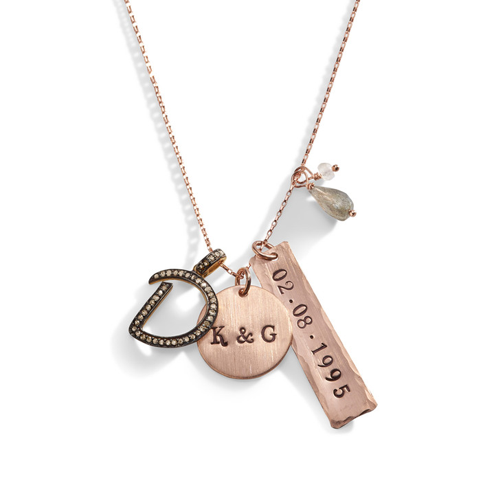 The Deb - Gold and Diamond Letter Necklace