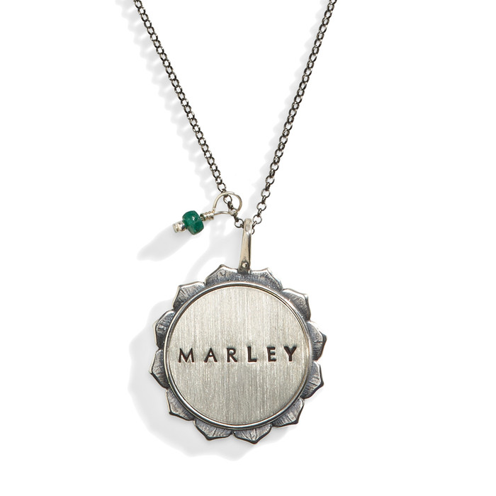 Solana Personalized Double Sided Medallion Name Necklace