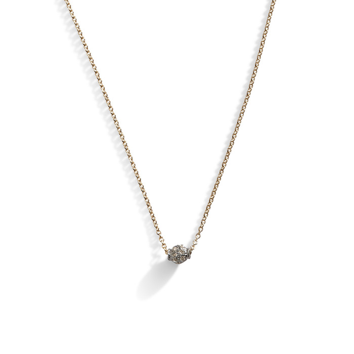 Delicate Oval Pave Diamond Layering Necklace