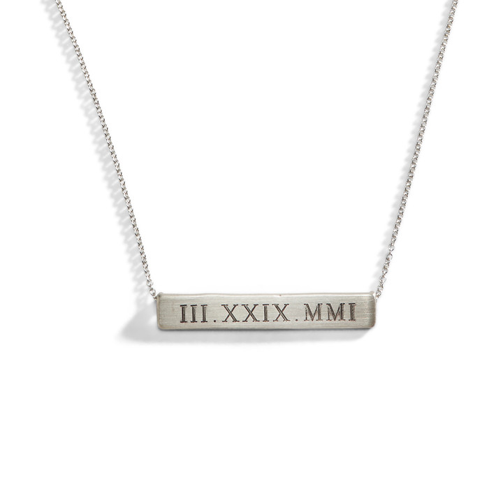 Engraved Nameplate Necklace