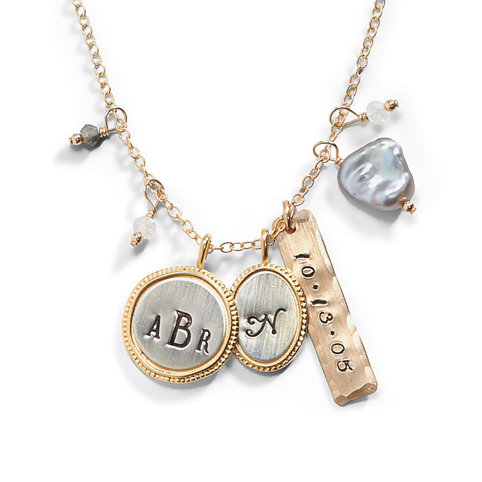 Number 5 Personalized Gold Necklace