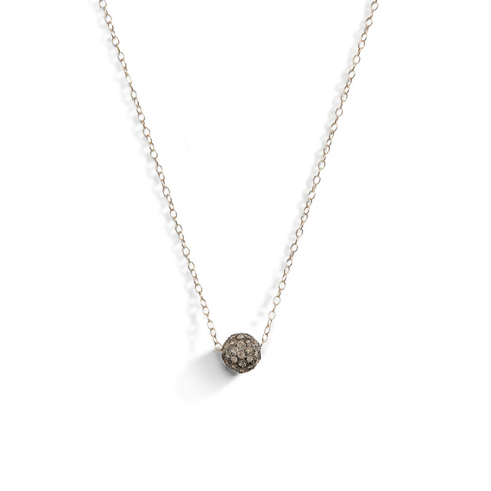 Luxe Pave Diamond Ball Layering Necklace