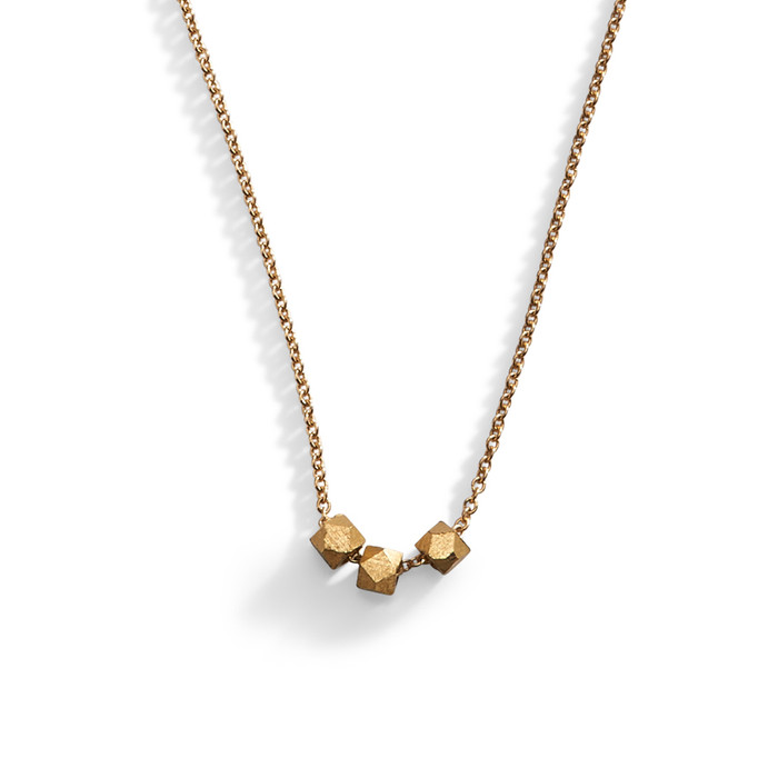 Metal Chiseled Minimalist Layering Necklace