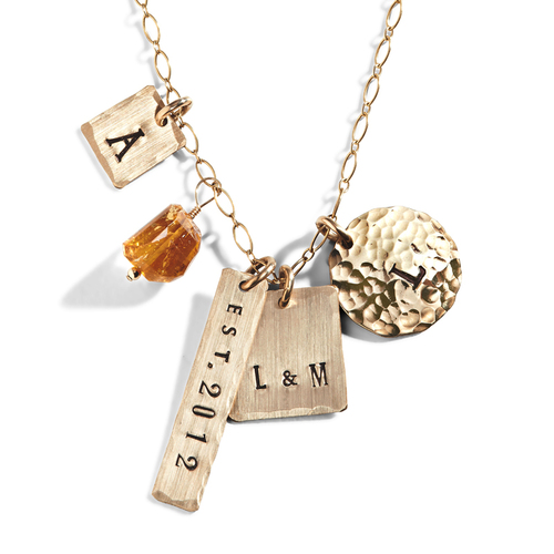 Personalized Mom Necklace | Engraved Necklaces for Mom