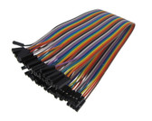 40 POS Female to Female Pre-crimped Zippable Jumper Wire 2.54mm 10 color 20CM