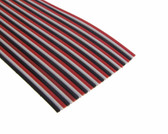 3Ft Multi-Color Flat Ribbon Zippable Cables 30 Conductors Red/White/Black