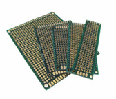 Double Side Prototype Board Perforated 2.54mm Through Hole - Pack of 5 Sizes