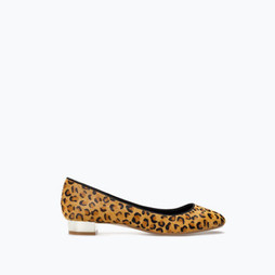 Zara Shiny Heeled Leopard Shoes