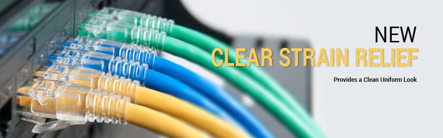 New CAT6 Clear Strain Relief Patch Cables