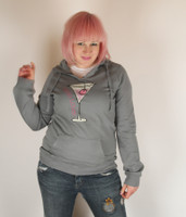 Be As You Are Hello Lover Gray Hoodie Martini Cherry Grey Hooded Sweatshirt