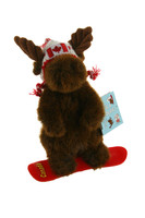 "Stuffed Animal House Stuffed Animal House 8"" Brown Moose Canadian Wildlife Snowboarder"