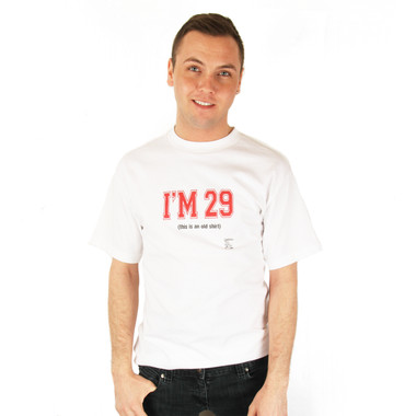Grimm I'm 29 This Is An Old Shirt Tee Mens White Short Sleeve T Shirt Top