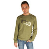 Life is Good Sage Green Airbrush Guitars Longsleeve Top Long Sleeve Shirt Mens Electric Faded Vintage Reflection