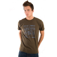 Life is Good Stout Brown Blues Festival Poster Electric Guitar Short Sleeve Mens T Shirt Good Vibes Concert Show Tee Top