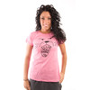 Be As You Are Maneater Man Eater Hot Bright Pink Lion Roar Animal Face Tee Women's Short Sleeve T-Shirt Shirt Ladies Top