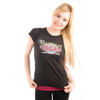 Be As You Are Las Vegas What Happens Black Ladies Tee Shirt Facebook Nevada T-Shirt Marquee Women's Top Front