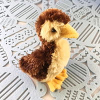 "Douglas Cuddle Toy Baby Duck Marsha Mallard 6"" Brown Yellow"