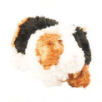 "Douglas Cuddle Toy 7"" Marble Guinea Pig RARE Tri-Colour Tri-Color Brown Black White Pet Fuzzy Furry Ultra Soft Plush Stuffed Animal 3749"